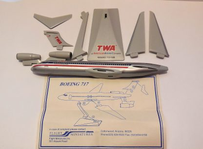 TWA American Airlines Boeing 717-200 Model Parts