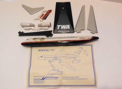 TWA Boeing 717-200 Model Parts