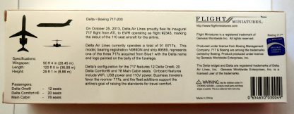 Delta Air Lines Boeing 717-200 Model Box Back