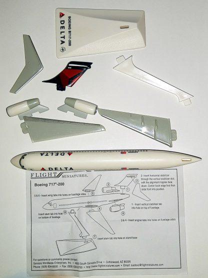 Boeing 717-200 Delta Air Lines Model Parts