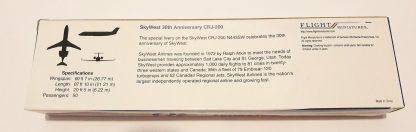 SkyWest 30th Anniversary Bombardier CRJ200 Model Box Back